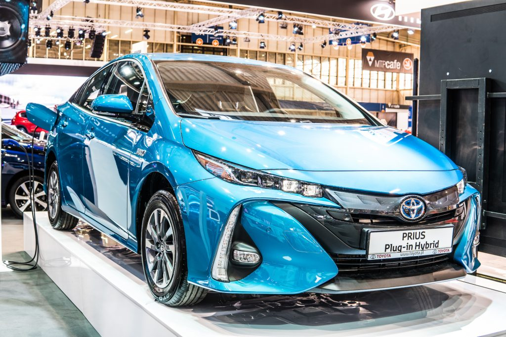 Prius on display