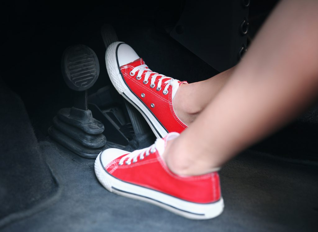 red shoes and brakes