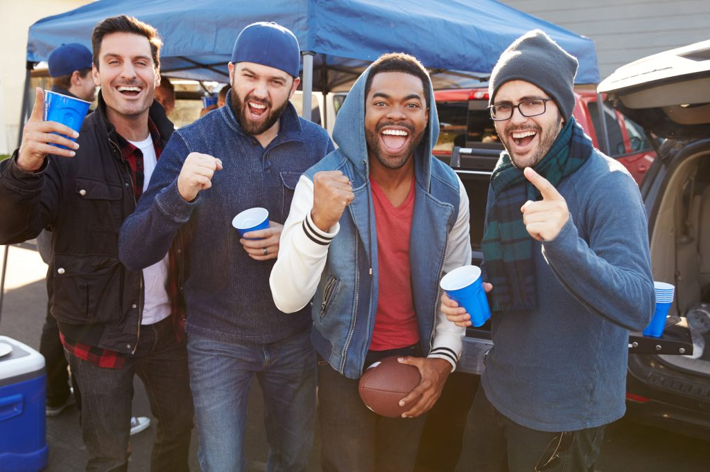 tailgate with friends