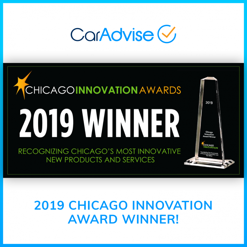 CarAdvise Chicago Innovation Award winner 2019